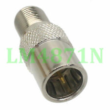 1pce Slide-on Adapter F TV plug male to F female RF connector QUICK push-on M/F