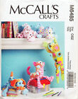 MCCALL'S SEWING PATTERN 6485 BABY ANIMAL SOFT TOYS HIPPO, CAT, DOG, HORSE, FROG