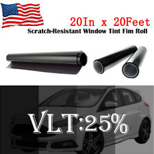 "Uncut Window Tint Roll 25% VLT 20 "" 20 ft Feet Home Commercial Office Auto Film"