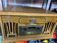 Spirit of St.Louis Wooden Turntable, Tape Player Cd Does Not Work Radio