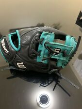 "New listing Wilson A500 A05RB161075 Youth 10.75"" Robinson Cano Glove RHT - Black/Green"