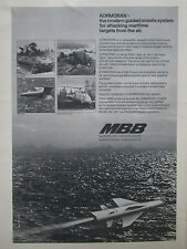 11/1975 PUB MBB MISSILE KORMORAN ANTISHIP ANTI NAVIRE ROLAND HOT MILAN AD