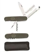 BW Bundeswehr Taschenmesser oliv Armee Outdoor Angeln  Neu mit Tasche