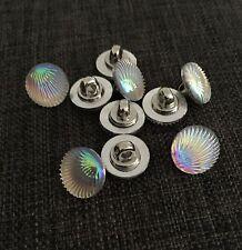 10 X 13mm Opalescent Seashell Shank Buttons - Australian Supplier
