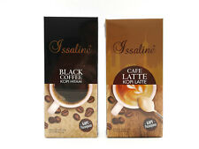 2 Boxes Issaline Gourmet Black Coffee + Cafe Latte Ganoderma Lucidum Reishi