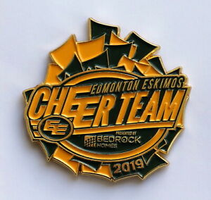 Large Official 2019 Edmonton Eskimos Cheerleaders CFL football pin