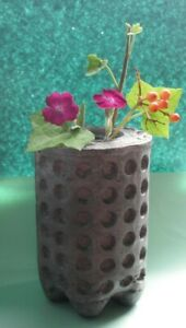 Textured Concrete And Glass Vase
