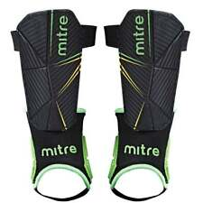 Mitre Delta Ankle Shinguard Black/Green/Yellow Large