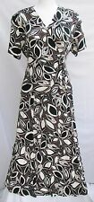 Eastex Two Piece Brown/Black/Cream Leaf Design (Top Size 16 & Skirt Size 18)