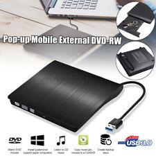 Externes DVD Laufwerk USB 3.0 Brenner Slim CD DVD-RW Brenner für PC Laptop Neu