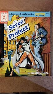 The Serve and Protect adventure supplement RPG USED! Steve Jackson Games
