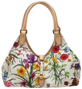 Gucci  Extremely Rare Flora Floral Bardot Hobo Bag 863138