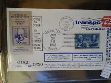 COVER rocket  mail US TRANSPO 72  1972 ONLY 250 rare   (ros4088
