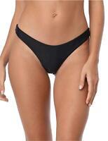 RELLECIGA Women's Black Super Cheeky Brazilian Cut Bikini, Black, Size Medium vB