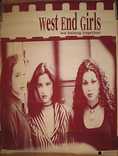 West End Girls We Belong Together promotional poster, 1991, 30x40, Vg