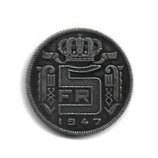 RARE - Belgique 1947 - 5 francs - Léopold III - type Rau en français - UNC -(36)