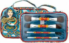 Wonder Woman Double Ended Make up Brush Set with Bag - Girls Stocking Filler