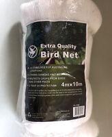 New Bird Net Ani Bird Netting White Garden Fruit Tree Plant Crops Knit Mesh 4x10