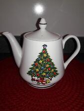 Mount Clemens Pottery Christmas Tree Pedestal Tea Pot  Pre owned