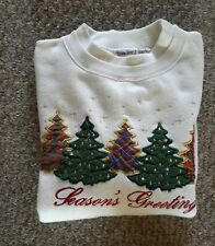 """Woman's L/S Pullover Top """"Season's Greetings"""" by Bobbie Brooks-Size M"""