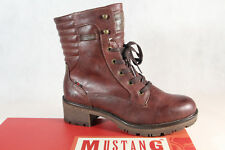 Mustang Ankle Boots Burgundy 1284 New