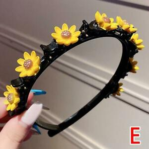 Girl Sweet Princess Hairstyle Hairpin Cartoon Headbands with Clips Tools 6C8A