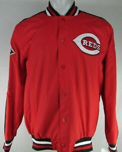 Cincinnati Red MLB G-III Men's World Series Snap Up Bomber