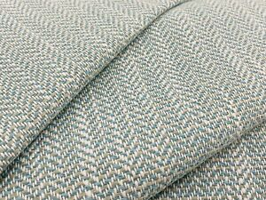Thibaut Crypton Herringbone Uphol Fabric- Ashbourne Tweed / Aqua 3.50 yds W80610