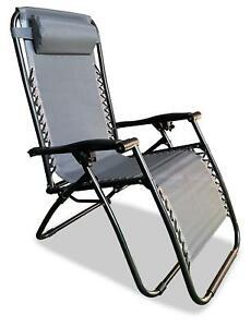 Quest Hygrove zero gravity relaxer Chair in grey Garden, Camping Caravan
