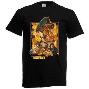 The Goonies Retro Movie Horror Island Men's Black T-Shirt Size S to 5XL