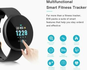 Smart Watch Fitness Tracker, Heart Rate Monitor Watch with Colour Screen IP68