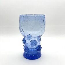 Blenko Blue Hiball Drinkware with Rosettes 3753