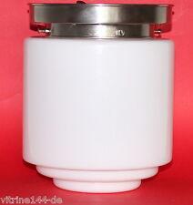 XL BAUHAUS Deckenlampe 30er Jahre Designleuchte ZYLINDER-Glas silberner Halter