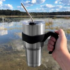 30 Oz. Steel Tumbler Set with Secure Handle, Lid, Metal Straw and Cleaning Brush