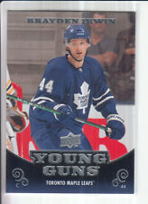 10/11 UD SERIES 1 BRAYDEN IRWIN YOUNG GUNS RC SP ROOKIE #248
