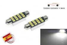 2 X BOMBILLAS LED COCHE CANBUS FESTOON 39MM C5W 12LED SMD 2835 248LM MATRICULA