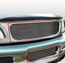 97-98 FORD F-150 4WD EXPEDITION PICKUP UPPER + BUMPER BILLET GRILLE INSERT COMBO