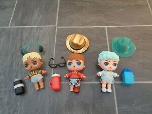 LOL doll bundle-3 x boy dolls with clothes+accessories