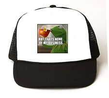 KERMIT THE FROG But Thats None of My Business Meme Trucker Cap Hat Lipton #2