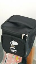 SNOOPY Nylon Travel Cosmetics Bag Black