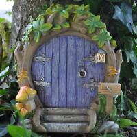 LARGE FAIRY DOOR PURPLE GARDEN MYTHICAL MAGICAL ELF PIXIE FAERIES NEW & BOXED