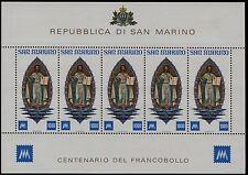 San Marino -1977 - Foglietto Centenario dei primi francobolli - MNH