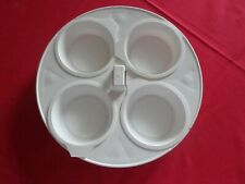 White Hard Plastic 4 Egg Poacher with Removable Cups