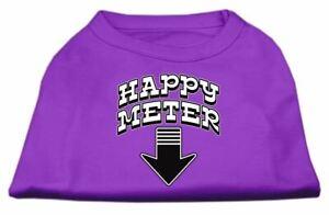 Happy Meter Screen Printed Dog Cat Pet Puppy Shirt