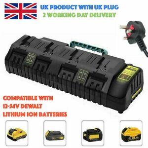 DCB10410.8V 14.V 18V 20V 54V Fast Charger for Dewalts 4 Port Lithium Ion Battery