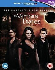 THE VAMPIRE DIARIES Stagione 6 Completa BOX 4 BLURAY in Inglese NEW .cp
