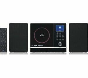 JVC UX-D529B 10W BLUETOOTH FLAT PANEL HiFi SYSTEM DAB+ DAB CD PLAYER USB