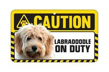 Dog Sign Caution Beware - Labradoodle