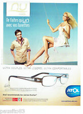 PUBLICITE ADVERTISING 066  2011   opticiens Atol &  Adriana Karembeu  lunettes