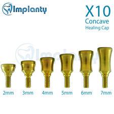 10 Standard Healing Cap Concave System Dental Implant Abutment Internal Hex